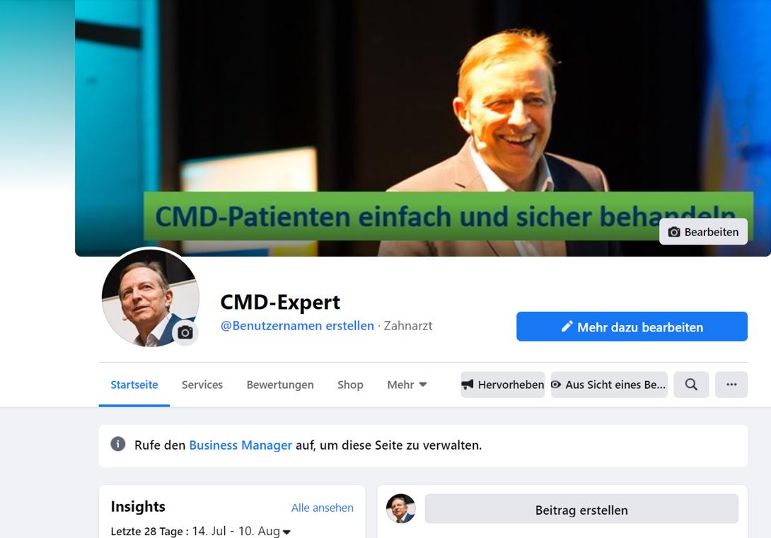 Abbildung Facebook-Seite CMD-Expert