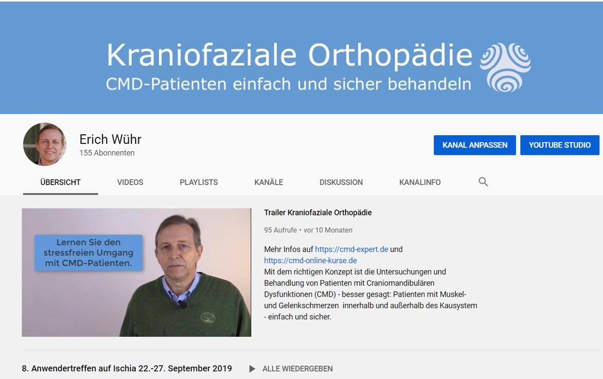 Abbildung YouTube-Kanal Kraniofaziale Orthopädie